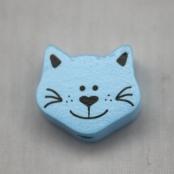1 Motivperle Minikätzchen Babyblau