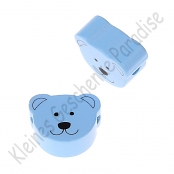 1 Motivperle Minibärchen Babyblau horizontal