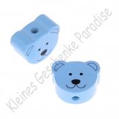1 Motivperle Minibärchen Babyblau vertikal
