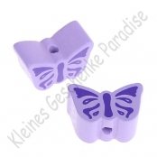 1 Motivperle Schmetterling Flieder mit Druck