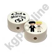 1 Motivscheibe Hochzeit Brautpaar Jungs