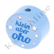 1 Motivscheibe klein aber oho Babyblau mit Druck und Glitzer