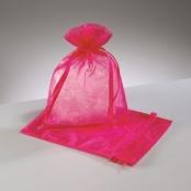 1 Organzasäckchen 12,5x17cm Pink