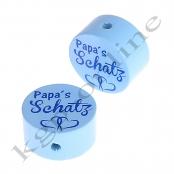 1 Scheibe Papa´s Schatz Babyblau