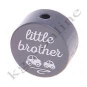 1 Scheibe little brother Grau mit Weiß