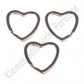 1 Schlüsselring 33mm Herz Silberfarbig