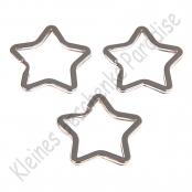 1 Schlüsselring 34mm Stern  Silberfarbig