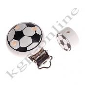 1 Set Fußball Schnullerkettenclip + Motivperle 20mm