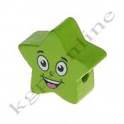 1 x 5 Zackstern Smiley Apfelgrün