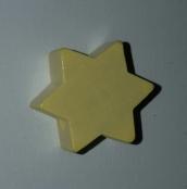 1 x 6eck Stern Pastellgelb