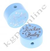 1 x Glitzer Scheibe Rocker Baby Babyblau H2