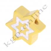 1 x Glitzer Stern Pastellgelb