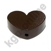 1 x Herz Groß Braun