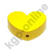 1 x Herz Groß Gelb