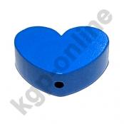 1 x Herz Groß Mittelblau