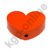 1 x Herz Groß Orange