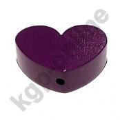 1 x Herz Groß Purpurlila