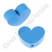 1 x Herz Groß Skyblau