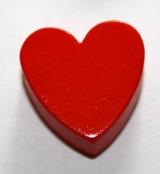 1 x Herz Rot Horizontal