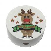 ABVERKAUF!!! 1 x Motiv Scheibe Rentier Merry Christmas