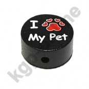 1 x Motiv Scheibe I Love MY PET  schwarz