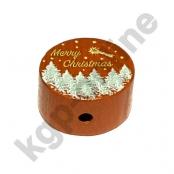 1 x Motiv Scheibe Merry Christmas Hellbraun