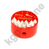 1 x Motiv Scheibe Merry Christmas Rot