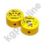 1 x Motivscheibe Einhorn Einschulung in Gelb