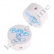 1 x Scheibe Baby 2015 Babyblau-Hellblau
