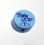 1 x Scheibe Baby 2017 Babyblau