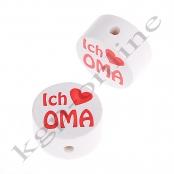1 x Scheibe ICH ♥ OMA