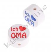 1 x Scheibe ICH ♥ OMA/ICH ♥ OPA