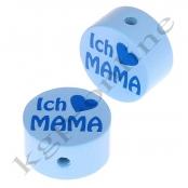 1 x Scheibe ICH ♥ MAMA Babyblau/Hellblau
