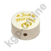 1 x Scheibe Just Married Goldgelb