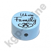 1 x Scheibe We are Family Babyblau