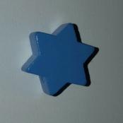1 x 6eck Stern Hellblau