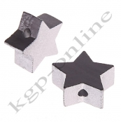 1 x Stern Silber 20mm