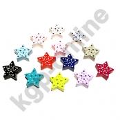 1 x Stern mit Pünktchen 20mm nach Wahl