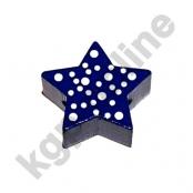 1 x Stern mit Pünktchen in Dunkelblau
