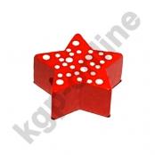 1 x Stern mit Pünktchen in Rot