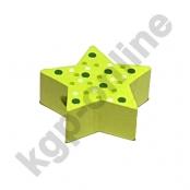 1 x Stern mit Pünktchen in Lemon