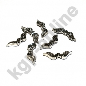 25 Silberfarbene Metall Engelsflügel