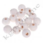 30 Rillenperlen 10 mm Weiß (2)