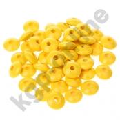 50 Holzlinsen 10mm Gelb (4)