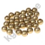 50 Holzperlen 10 mm Gold (36)