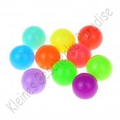 25 bunte Neon Kunststoffperlen 10mm Perlen
