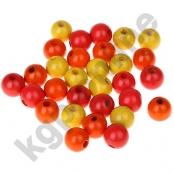 50 stk. Holzperlenmix 10mm Gelb/Rot/Orange