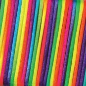 5m Flechtkordel 2mm Regenbogenfarbe