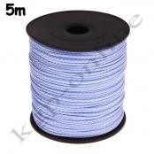 5m PP-Polyesterkordel 1,5mm Babyblau/Lavendel