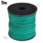 5m PP-Polyesterkordel 1,5mm Smaragdgrün